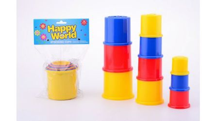Detailansicht des Artikels: 22063 - Happy World 10 Stapelbecher